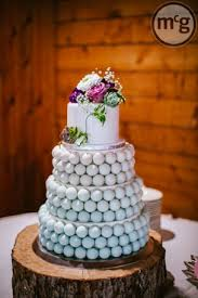 Beach Glass Ombre Wedding Cake Made Of Balls
