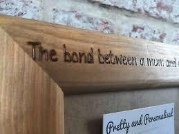 bilderrahmen shabby chic personalised rustic wood in memory
