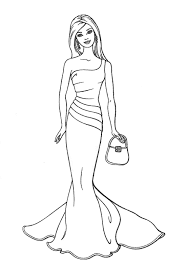 Barbie Fashion Fairytale Coloring Pages For Kids Best Colooring Page Download Print