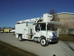 100 Altec Boom Truck 2009 INTERNATIONAL DURASTAR 11 FT ARBORTECH FORESTRY BODY 60 FT WORK