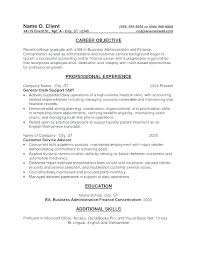 Objective Of Resume Best For Examples Sample Objectives Finance Internship