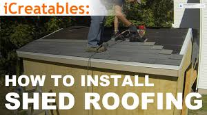 how to build a shed part 9 install asphalt shingles on shed