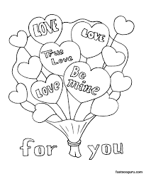 Sheets Free Printable Valentine Coloring Pages 51 For Online With