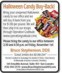 Operation Gratitude Halloween Candy Buy Back by Halloween Candy Buy Back Today U0027s Dental Consulting