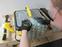 home depot tile saw how do you cut premium mosaic glass tile the home depot community