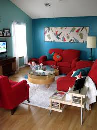charming teal and red living room 63 with additional interior