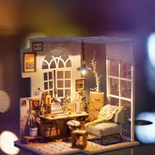 Iiecreate DIY Wood Dream Doll House With Light Miniature And Furniture Large Villa How To Make Dollhouse Furniture Out Of Cardboard
