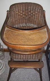 Antique Wicker High Chair | Things I LOVE! In 2019 | Wicker ...