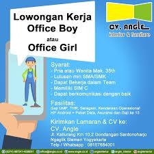 Lowongan Pekerjaan Terbaru Yogyakarta Info Lowongan Kerja