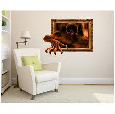 Creative Halloween Wallpaper Devil Out Of Frame 3D Wall Stickers
