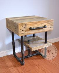 Pallet Nightstand And Pipes Side Table By SibusFurniture