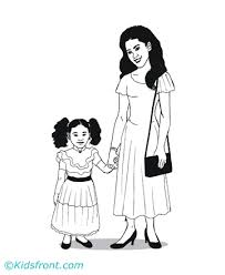 Mother Coloring Pages For Kids