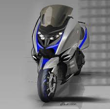 One Of The Original Conceptual Sketches BMW Concept C Maxi Scooter