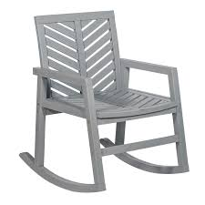 Walker Edison Furniture LLC Outdoor Chevron Rocking Chair - Grey Wash Trex Outdoor Fniture Yacht Club Charcoal Black Patio Rocker Stille Rocking Chair Rockn Roll Structure For Original Pouffe By Fatboy Monet Rattan Walker Edison Llc Chevron Grey Wash Silhouette 499833112 Wicker Dark Brown At Home Italian Vintage Rocking Chair In Black Leather Outsunny Porch Wooden Presidential