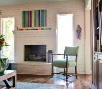 Paint Colors Living Room Red Brick Fireplace by Red Brick Fireplace Makeover Interior Paint Colors That Go With