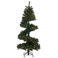 Pre Lit Flocked Christmas Tree Uk by Spiral Christmas Trees U2013 Happy Holidays