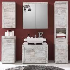 bad möbelset badezimmer komplett set weiß pinie shabby vintage 5 teilig cancun