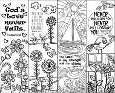 8 Printable Bible Verse Coloring Bookmarks For Kids Scripture