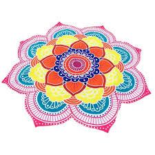 fleur de lotus imprimé mandala tapis fleur serviettes de plage