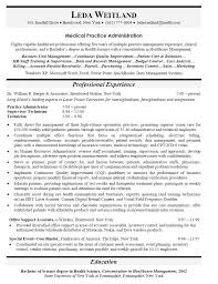 Resume Objective Examples Medical Management Images Gallery