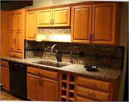 Kitchen Backsplash Ideas With Oak Cabinets by Interior Alluring Bathroom Vanity Granite Backsplash Backsplash