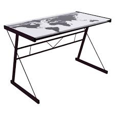 plateau en verre pour bureau avec bureau verre trempe bureau table