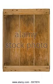 Empty Wooden Crate Front View 3D Stock Photo Royalty Free Image