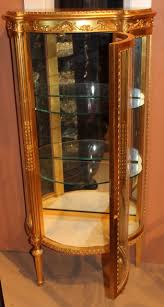 Curved Glass Curio Cabinet by Giltwood French Style Curio Cabinet By Paine Furniture Company