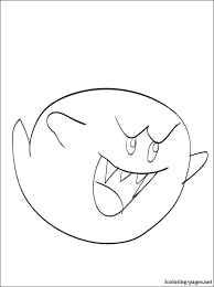 Boo Mario Coloring Page