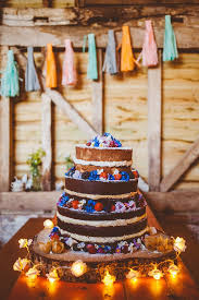 DIY Rustic Wedding At The Secret Barn In Sussex With 1000 Cranes Wild Flowers Tissue Tassels Bunting Decor