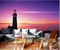individuelle fototapeten landschaft lighthouses meer nacht silhouette natur landschaft für wohnzimmer schlafzimmer tv hintergrund tapete