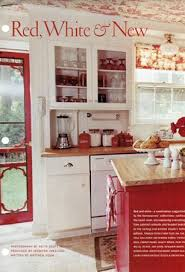 French Country Toile Red Apron Kitchen DecorCountry