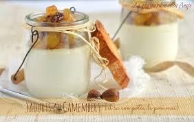 fromage ou dessert yaourt au camambert et sa compotée de pommes