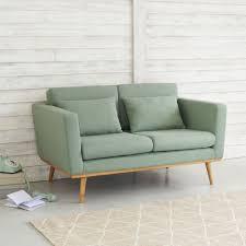 2 sitzer vintage sofa grau grün maisons du monde