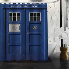 Custom doctor who Police box Shower Curtain Bath Novelty Polyester