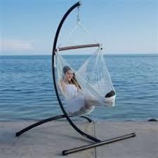 hammock chair 44 inch cotton hanging chair beige