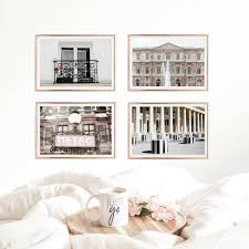 Paris Photography French Decor Gallery Wall Prints Pink