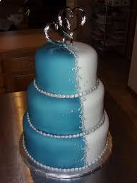 Blue and White Wedding Cake2