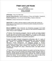 Federal Resume Template 10 Free Word Excel Pdf Format Download Inside