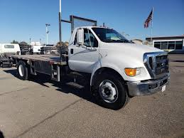 100 2012 Trucks Ford F650 Single Axle Flatbed Truck Cummins ISB 67L