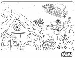 Club Penguin Christmas Coloring Picture