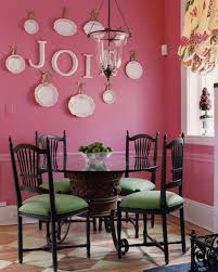 Green Chairs Pop In A Pink Dining Room Complementary Colors
