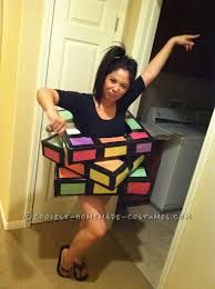 Rosie The Riveter Halloween Diy by Great Last Minute Rubik U0027s Cube Costume Costumes Holidays And