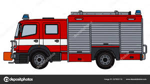 100 Fire Truck Red Hand Drawing Stock Vector 2v 237853116