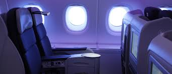 siege business air service on board business class