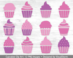 Funny Cupcake Cliparts
