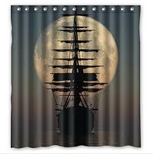 Pirate shower curtain Pirate Shower Curtain For Kids Bathroom