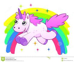Unicorn And Rainbow Illustration 39768832