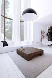minimalist living room modern with large window and high celing