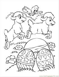 Small Easter Eggs Coloring Pages